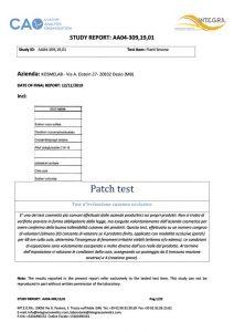 Risultato esempio patch-test
